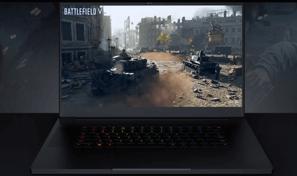 Razer display for battlefield V