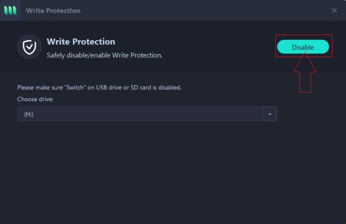 write protection EaseUS1
